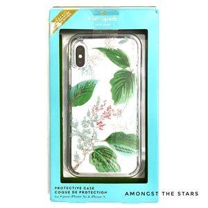 kate spade Green Leaf Plant iPhone X Xs Phone Case